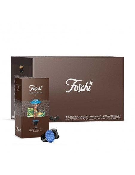 Foschi Decaffeinato, 80 Coffee Capsules  | Shop Online the best coffee capsules