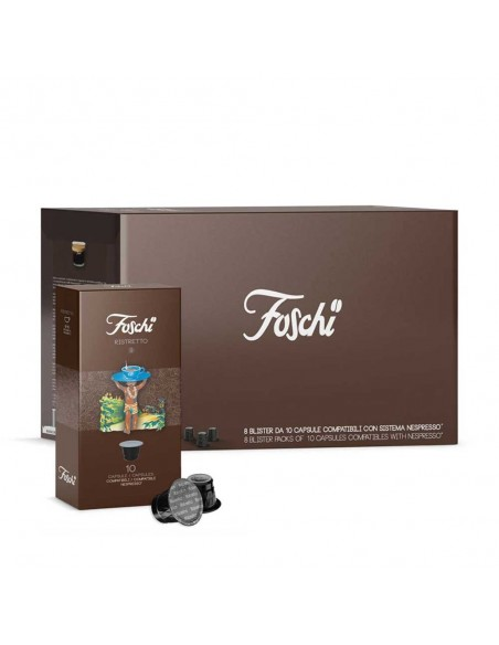 Foschi Ristretto, 80 Coffee Capsules  | Shop Online the best coffee capsules