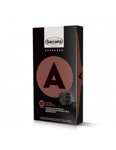 Saccaria Puro Arabica Coffee 10 Capsules for Nespresso (TM)