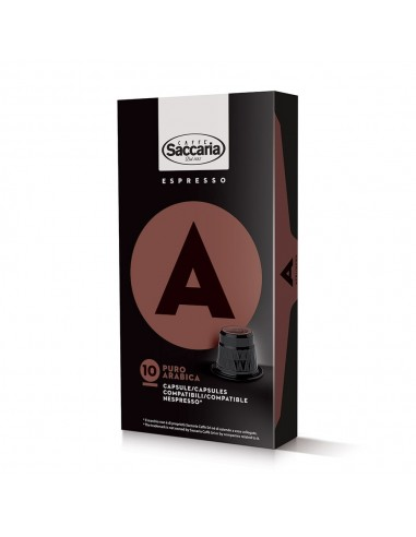 Saccaria Puro Arabica, 100 Coffee Capsules  | Shop Online the best coffee capsules