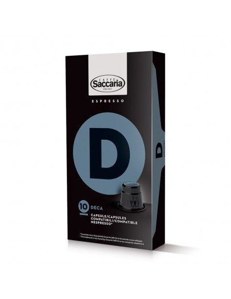 Saccaria Deca, 100 Coffee Capsules  | Shop Online the best coffee capsules
