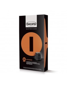 Saccaria Intenso Coffee 10 Capsules for Nespresso (TM)