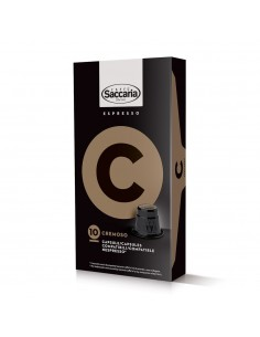 Saccaria Cremoso Coffee 10 Capsules for Nespresso (TM)