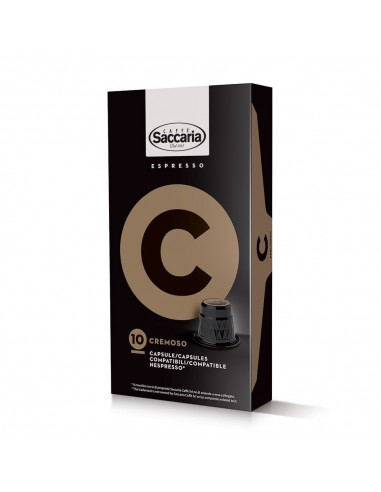 Saccaria Cremoso, 100 Coffee Capsules  | Shop Online the best coffee capsules